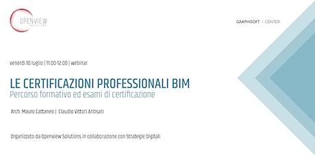 Le certificazioni BIM: percorso formativo ed esami di certificazione biglietti