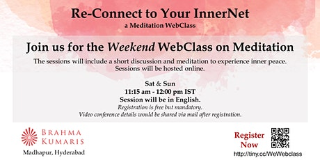 Re-Connect to your InnerNet  - A meditation WebClass  (Free Online Event) tickets