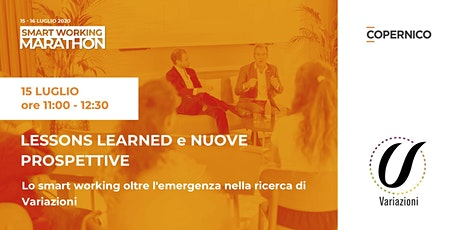 Lessons learned e nuove prospettive | Smart Working Marathon tickets