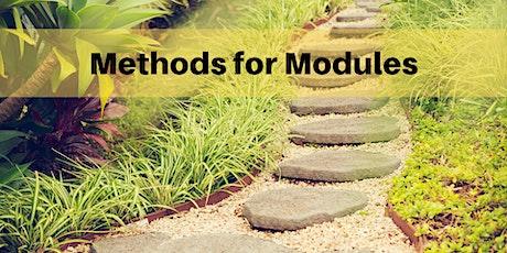 ONLINE WORKSHOP: Methods for Modules tickets