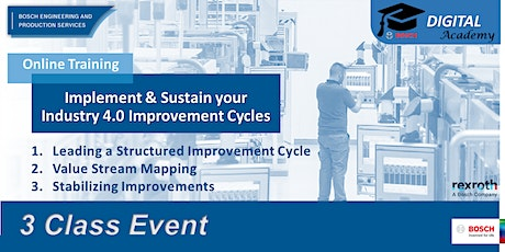 Implement & Sustain your Lean & Industry 4.0 Improvement Cycles tickets