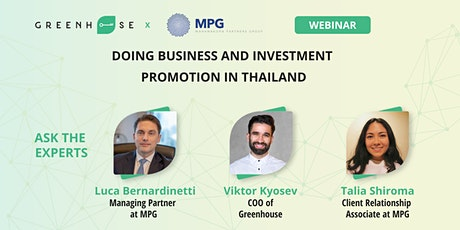 Doing Business and Investment Promotion in Thailand tickets