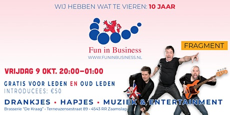Jubileumfeest Fun in Business tickets