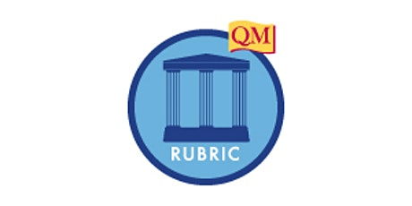 Applying the Quality Matters Rubric (APPQMR) - Virtual F2F (Summer 2020) tickets