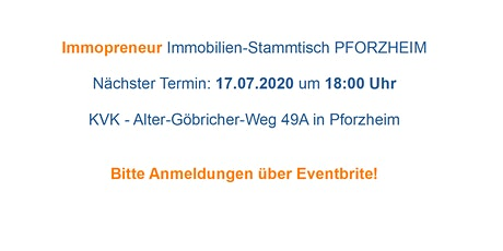 Immopreneur Immobilien-Stammtisch Pforzheim Tickets
