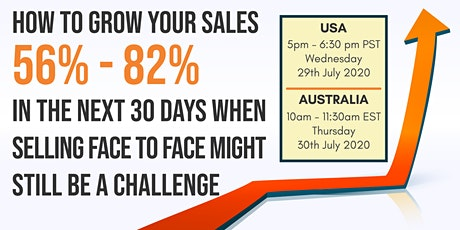 How to Increase Your Sales 56 – 82% in the next 30 days tickets