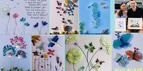 Beach Glass Collage Night with Supplies and Frame. To-Go Kits Available. tickets