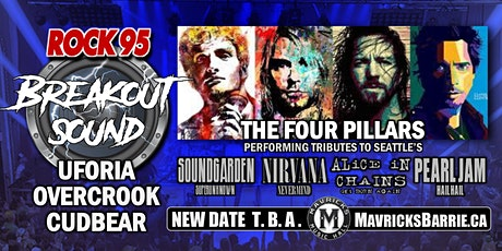 ROCK 95 BREAKOUT SOUND: Cudbear, Uforia & Overcrook + THE FOUR PILLARS tickets