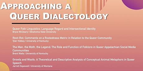 Approaching a Queer Dialectology tickets
