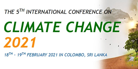 5th International Conference on Climate Change 2021 – (ICCC 2021) tickets