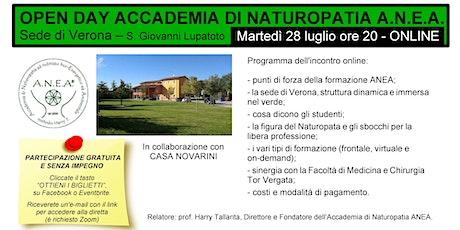 Open Day Accademia di Naturopatia ANEA  VR - online biglietti