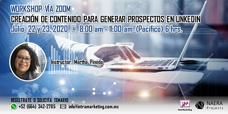 WORKSHOP CREACIÓN DE CONTENIDO PARA GENERAL PROSPECTOS EN LINKEDIN entradas