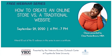 How to Create an Online Store vs a Traditional Website Webinar tickets