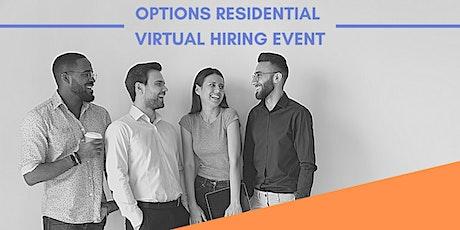 Options Residential Virtual Hiring Event ingressos