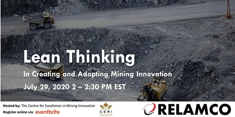 Lean Thinking in Creating and Adopting Mining Innovation tickets