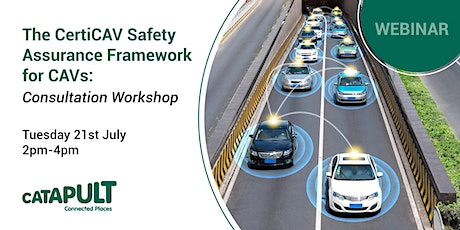 The CertiCAV Safety Assurance Framework for CAVs: Consultation Workshop tickets
