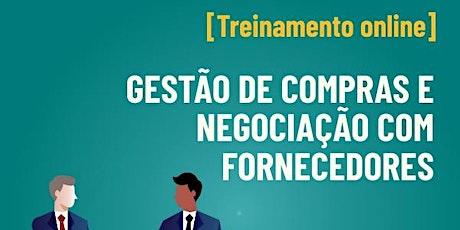 [Treinamento online] Gestão de Compras e Negociação com fornecedores bilhetes