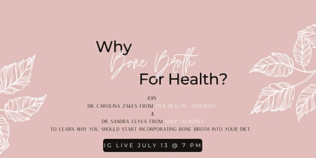Why Bone Broth For Your Health? tickets
