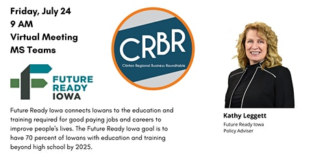 CRBR w/Kathy Leggett of Future Ready Iowa tickets