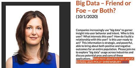 Big Data – Friend or Foe – or Both? entradas