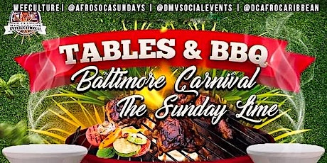 """FREE FOOD! """"Tables and BBQ: Outdoor Fete """" Baltimore Carnival Sunday tickets"""
