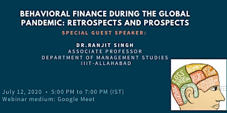 Behavioral Finance during the Global Pandemic: Retrospect and Prospects tickets