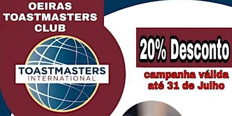 Formação em Comunicação e Liderança | Sessão Online Toastmasters ingressos