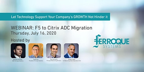 Webinar: F5 to Citrix ADC Migration tickets