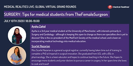 Global Virtual Grand Rounds: Tips for Getting into Surgery tickets