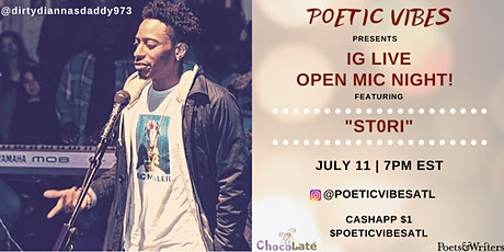 Poetic Vibes OPEN MIC - Online Series, EVERY 2nd Saturday! #LETSVIBE tickets