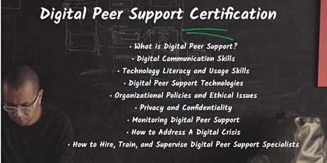 Digital Peer Support (short course) tickets