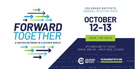 PLANNING AHEAD - Colorado Baptists Annual Meeting 2020 tickets