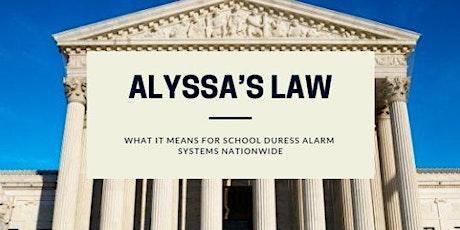 Alyssa's Law - Florida Informational Update tickets