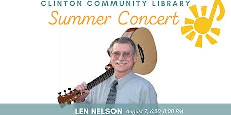 Summer Concert: Len Nelson tickets