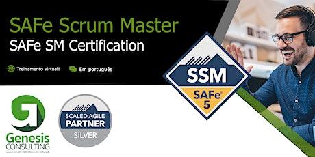 SAFe Scrum Master 5.0 certificação SAFe SM  - Live OnLine - Português bilhetes