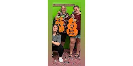 Fall Pumpkin Stack Wooden Door Hanger Workshop- Buford tickets