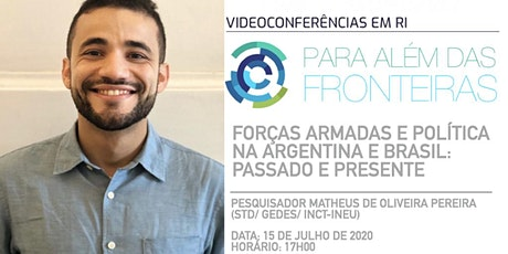 """""""Para além das Fronteiras: videoconferências em RI""""- Pesq. Matheus Pereira tickets"""