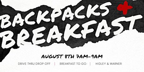 Backpacks & Breakfast tickets