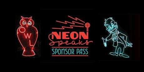 2020 Neon Speaks Sponsorship Donations tickets