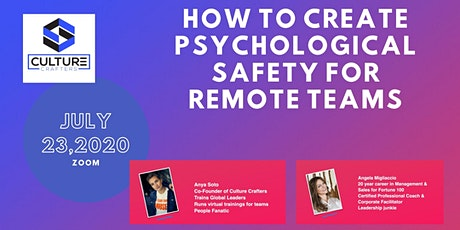 How to create Psychological Safety for remote teams tickets