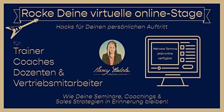 Rocke Deine virtuelle online-Stage - Hacks für Deinen persönlichen Auftritt Tickets