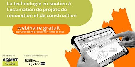 Technologie en soutien à l'estimation de projets de rénovation/construction tickets