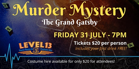 The Great Gatsby Murder Mystery Night tickets