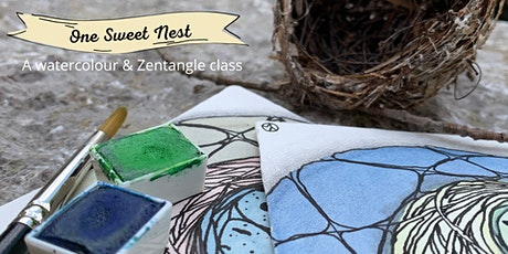 One Sweet Nest - a watercolour and zentangle workshop tickets