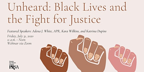 WEBINAR: Unheard: Black Lives and the Fight for Justice tickets