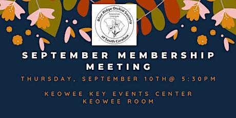 Blue Ridge Orchid Society September Membership Meeting tickets