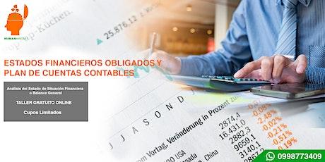 Estados Financieros Obligados y Plan de Cuentas Contables. entradas
