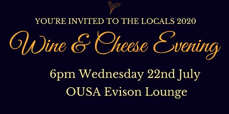 Locals 2020 Wine and Cheese tickets