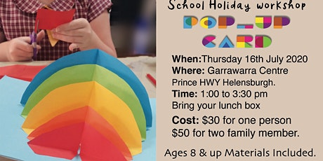 School Holiday workshop pop-up Cards tickets