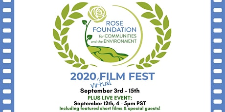Rose Foundation's 2020 Virtual Film Fest! entradas